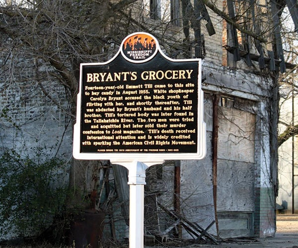 Bryant's Grocery Sign Outside Building